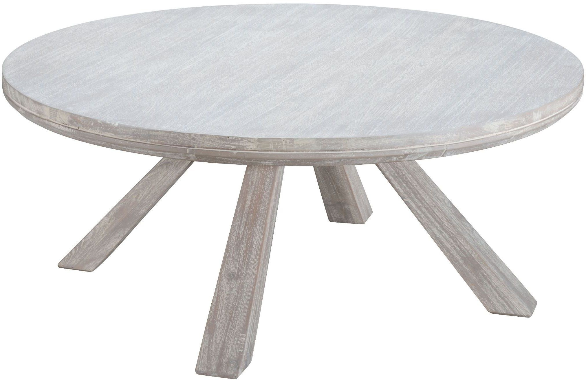 Beaumont Sun Drenched Acacia Round Coffee Table From Zuo Coleman Furniture