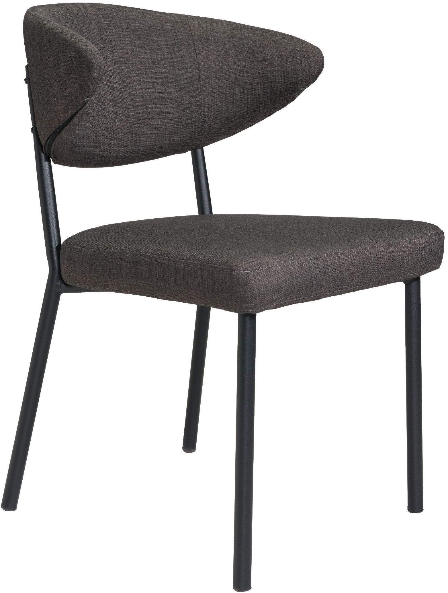 Pontus Charcoal Gray Dining Chair Set of 2 from Zuo