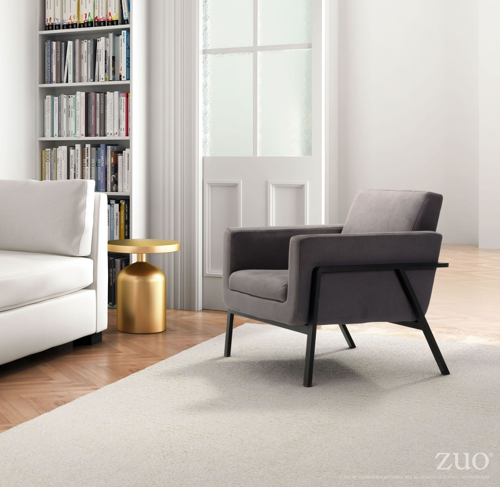 Homestead Gray Lounge Chair from Zuo