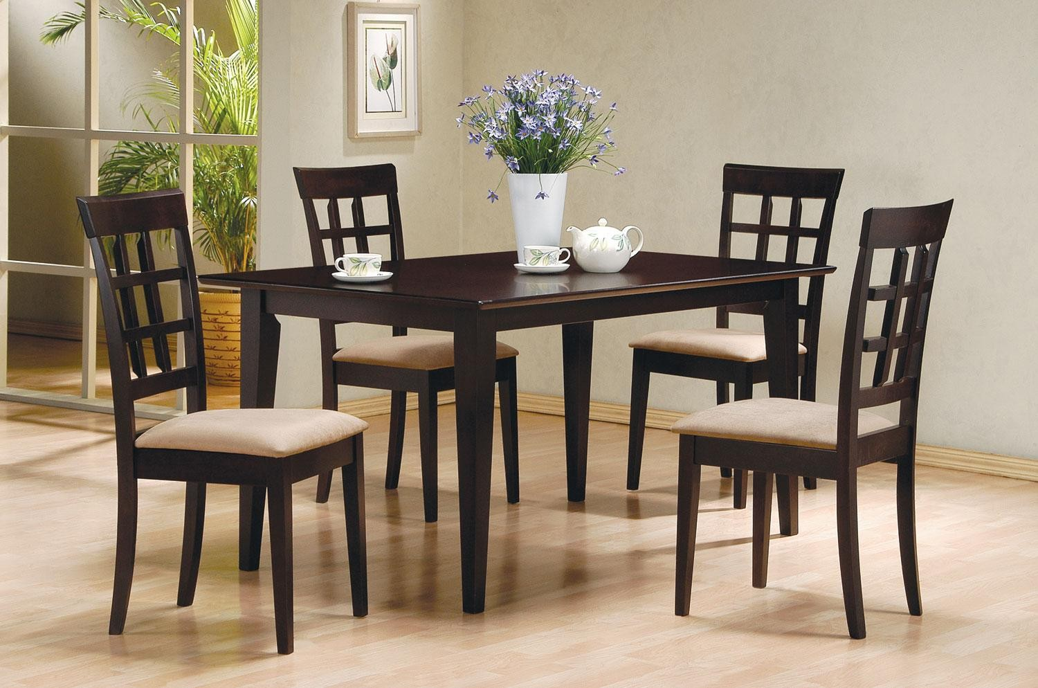 Dining Sets Tuscany Solid Wood Large Dining Set Table 6 Chairs: Mix & Match Cappuccino Dining Room Set From Coaster