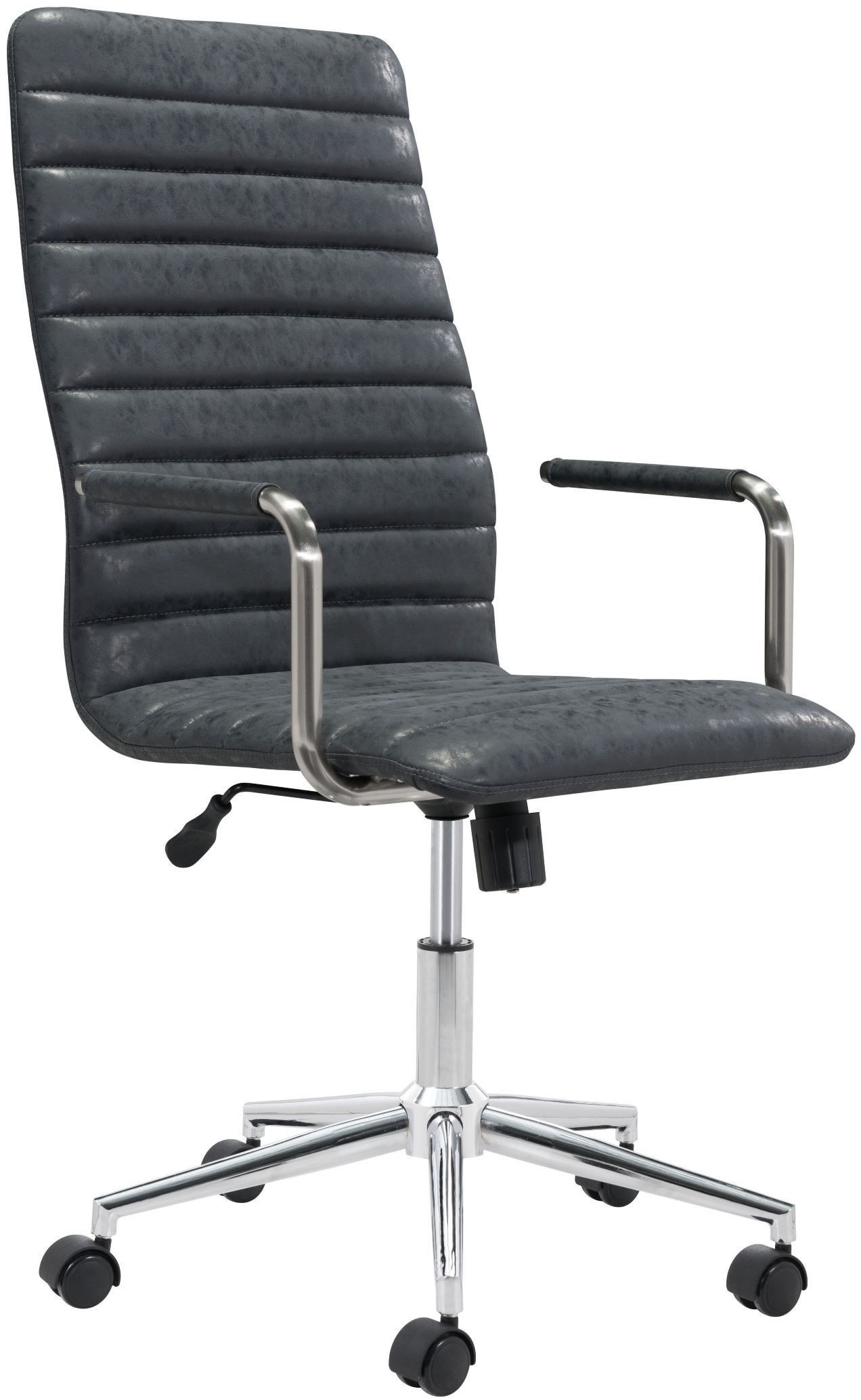 pivot vintage black office chair from zuo coleman furniture