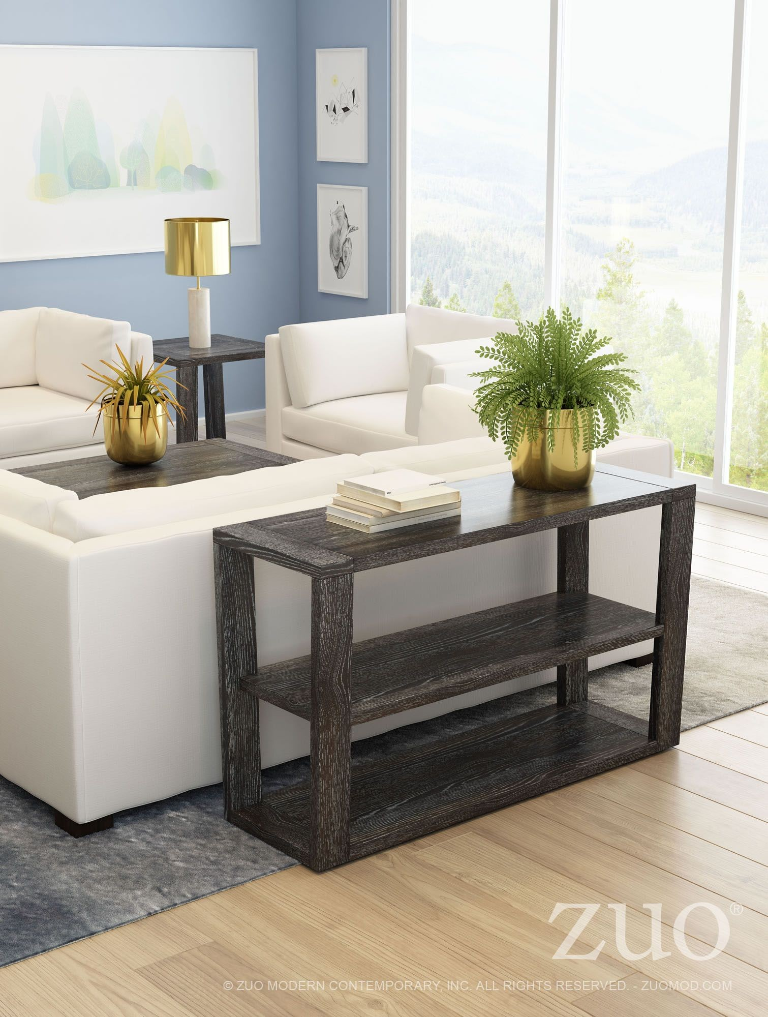 Skyline gray console table from zuo coleman furniture skyline gray console table geotapseo Gallery