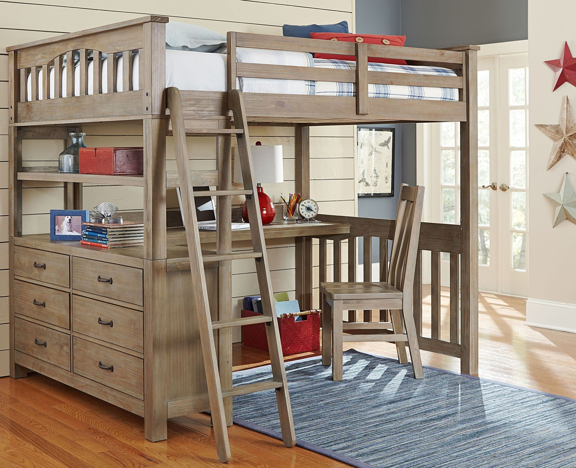 full bed kid larger plans desk natural loft knockout view pdf with in l drawers driftwood and high
