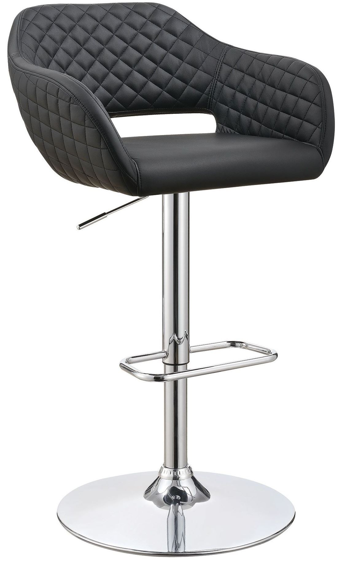 25 Quot Black Adjustable Bar Stool From Coaster Coleman