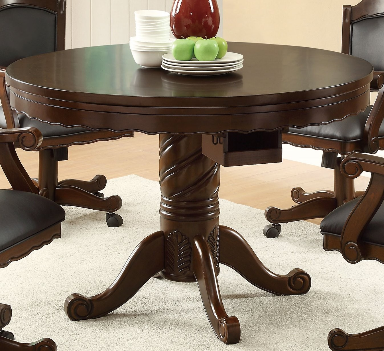Gaming Collection Three In One Poker Bumper Pool Dining Table  100871 From  Coaster (100871) | Coleman Furniture