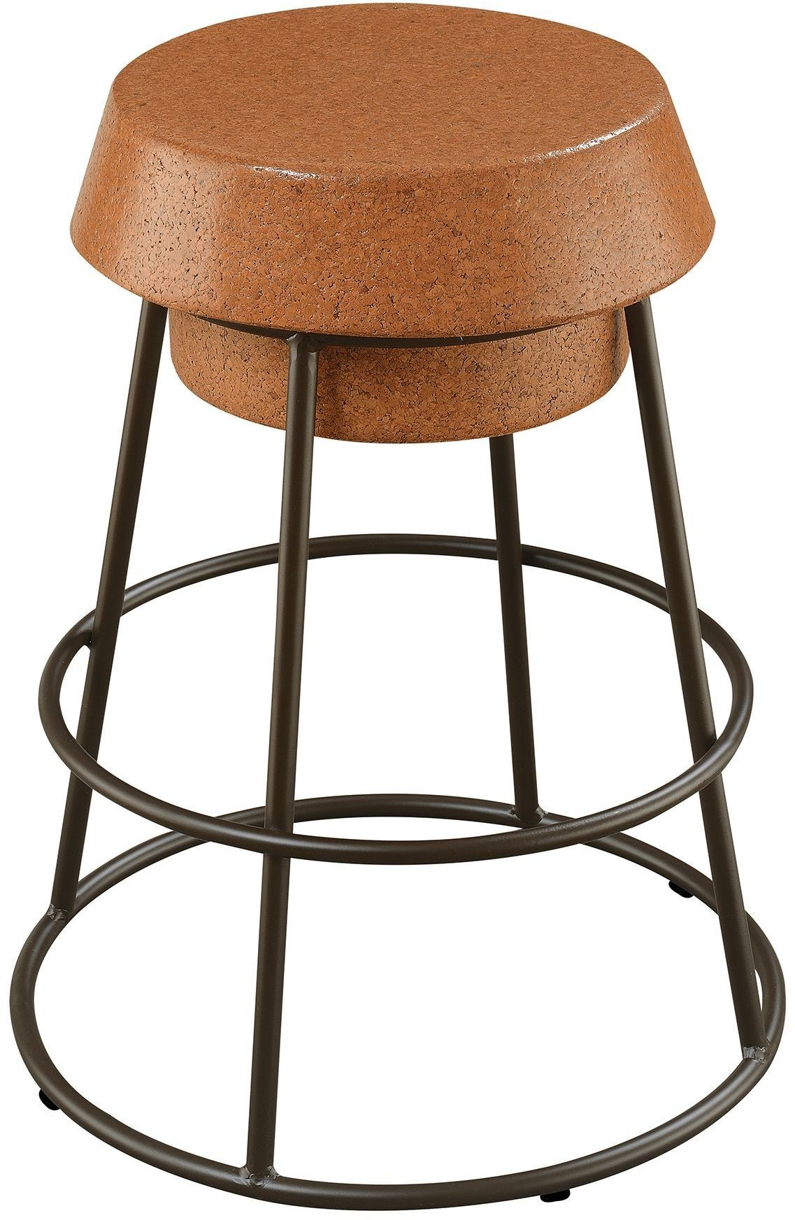 Light Brown Cork Counter Height Stool Set of 2 from ...