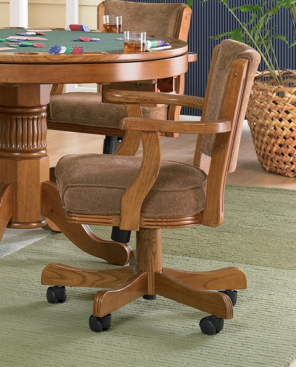 Mitchell Oak Game Chair