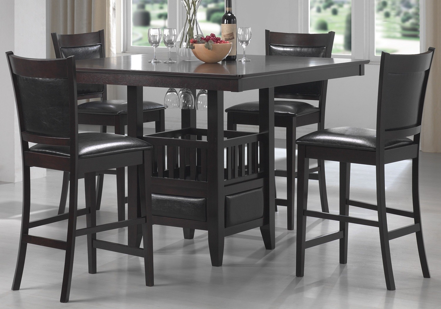 counter height dining room sets jaden counter height dining room set from coaster coleman furniture 104