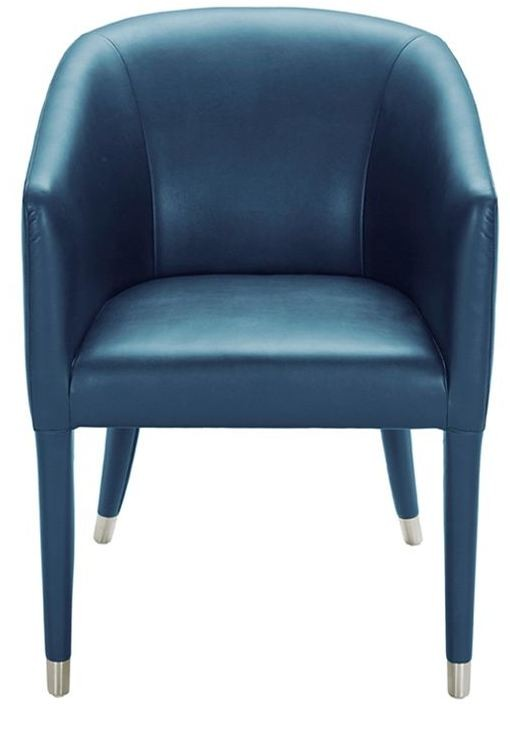 Marcus Turquoise Leather Armchair From Sunpan