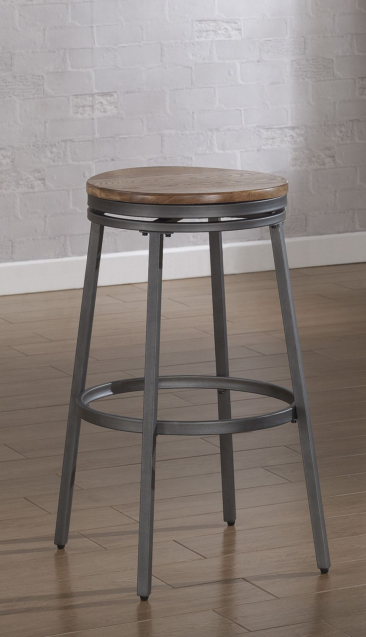 B1 100 25w Metal Frame Backless Bar Stool Set Of 2 From