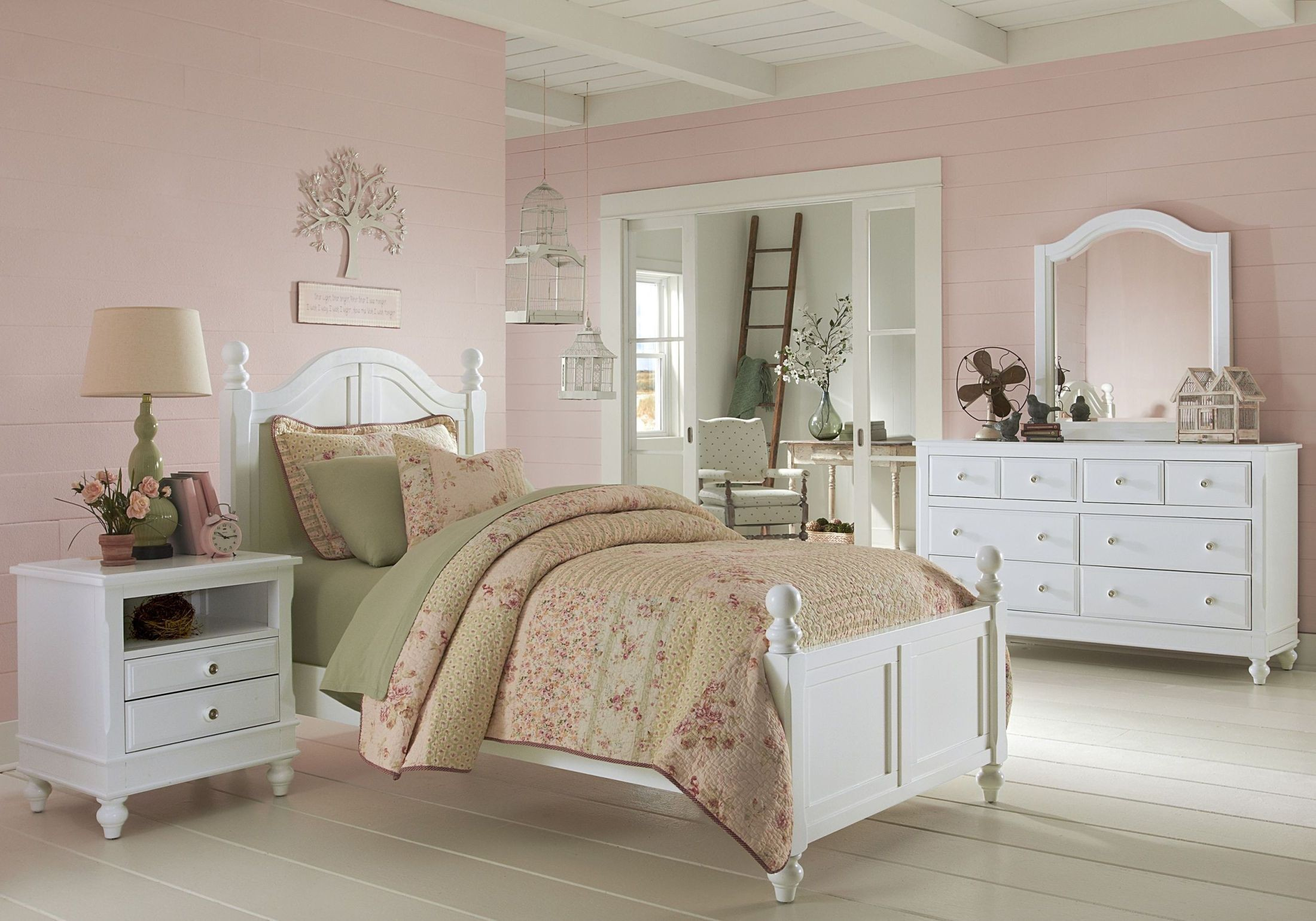 Lake house white payton youth panel bedroom set from ne kids coleman furniture Lake home bedroom furniture
