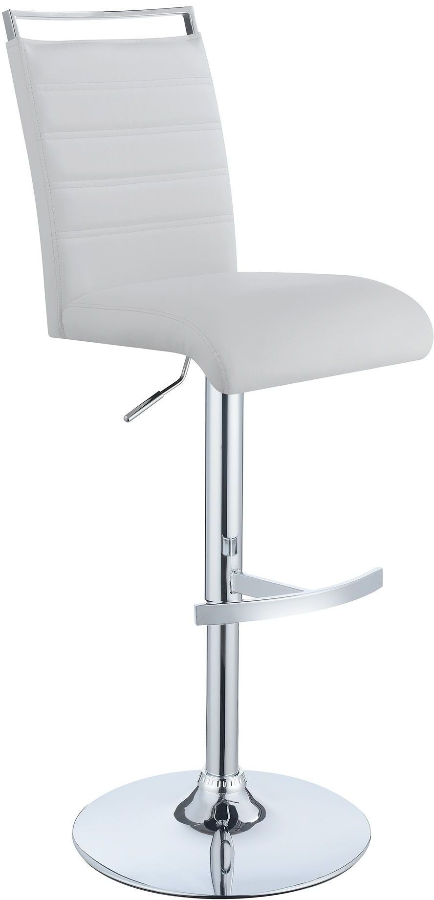 101146 Chrome Adjustable Bar Stool Set Of 2 From Coaster
