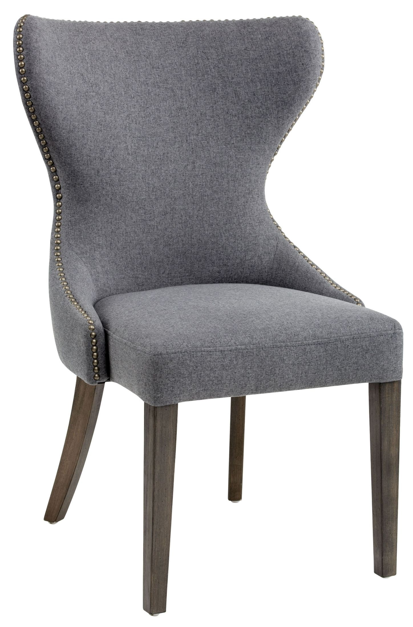 Ariana Dark Grey Fabric Dining Chair from Sunpan
