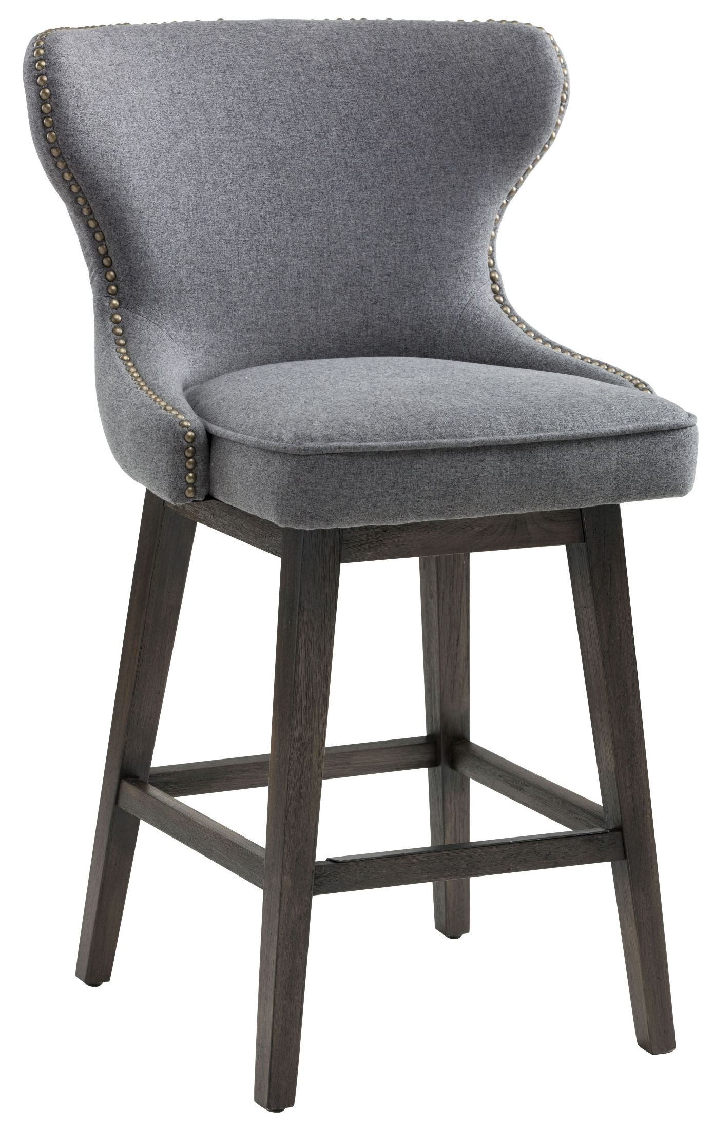 Ariana Dark Grey Fabric Swivel Counter Stool From Sunpan