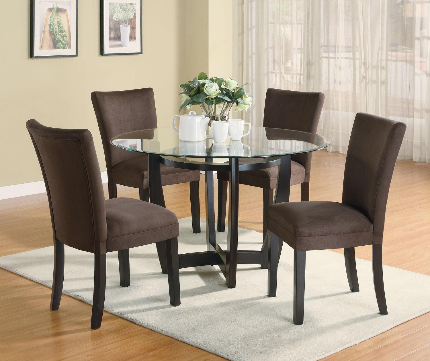 Dining Room Sets Round: Bloomfield Cappuccino Round Dining Room Set From Coaster