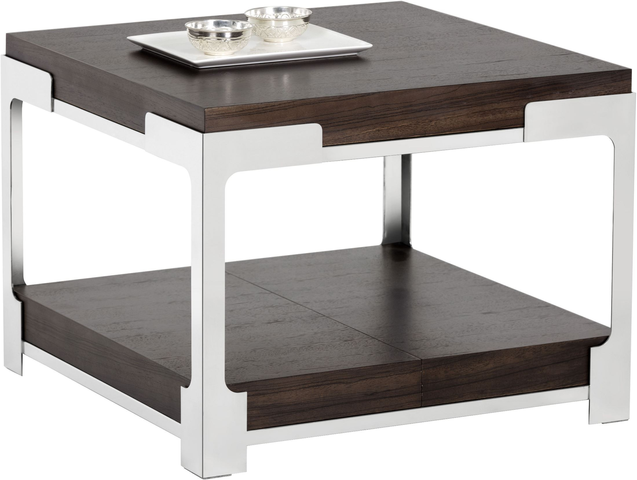 Captivating Davenport Dark Zebra End Table