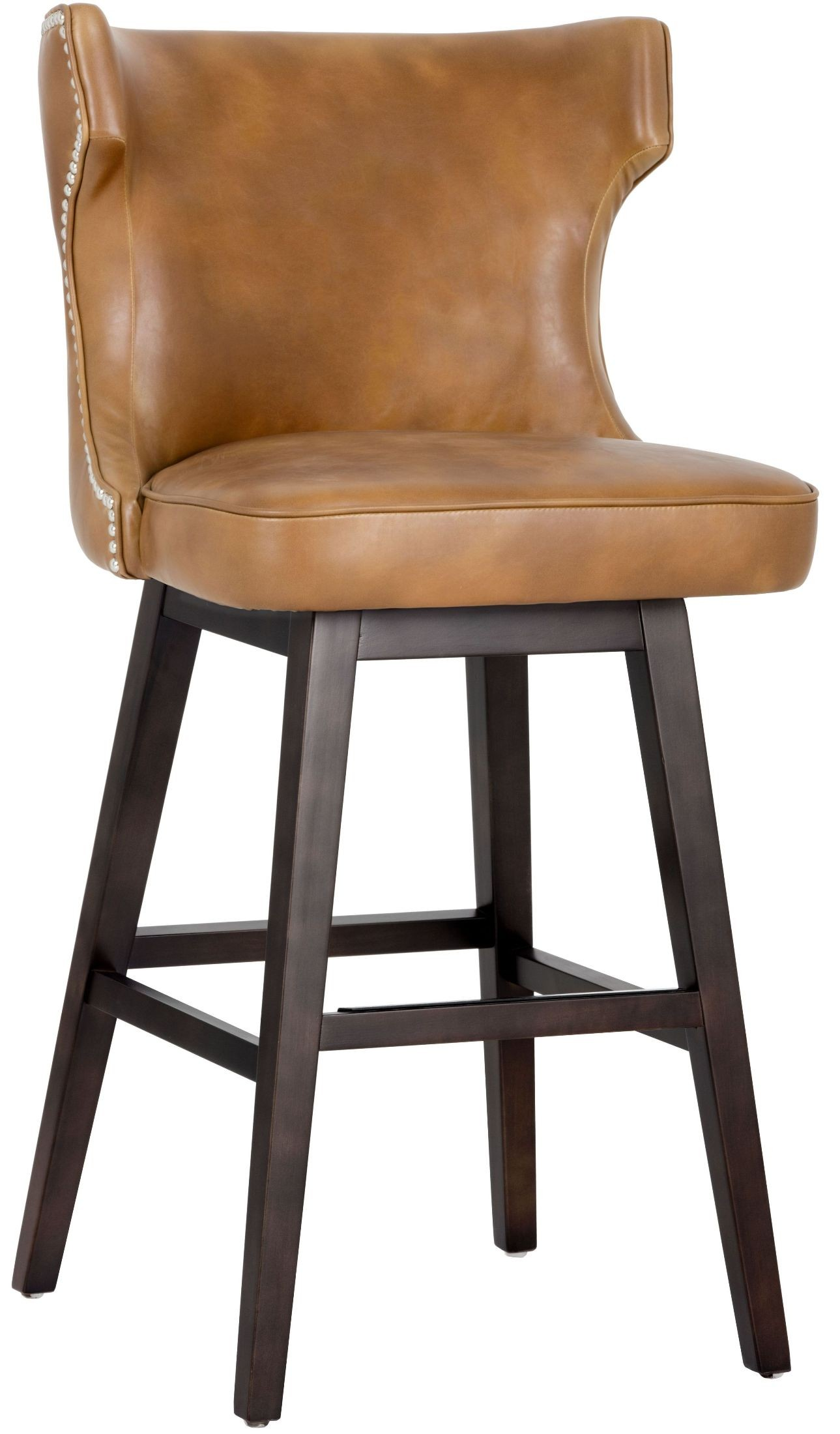 Neville Tobacco Tan Swivel Barstool From Sunpan Coleman