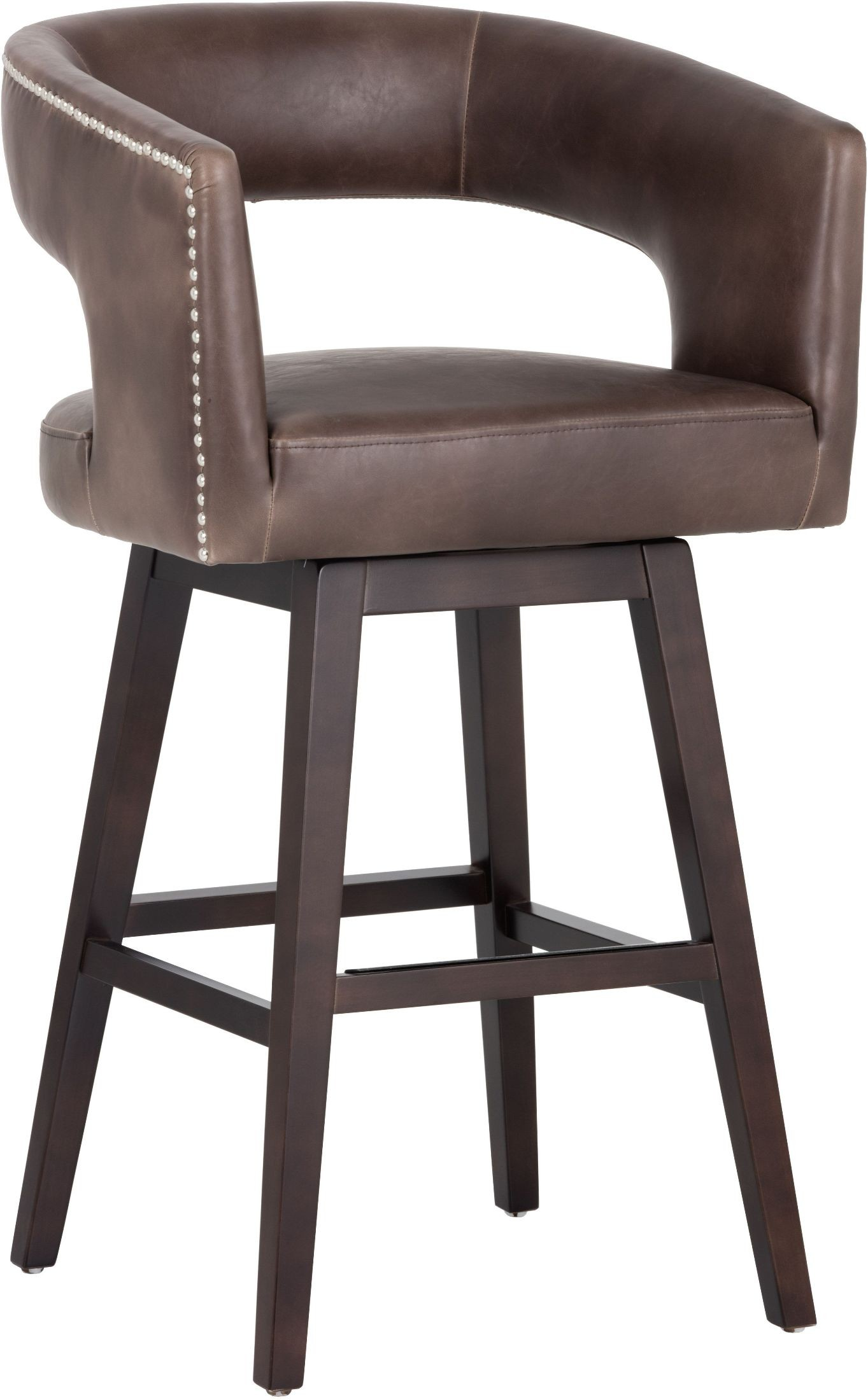 Draco Havana Dark Brown Barstool From Sunpan Coleman