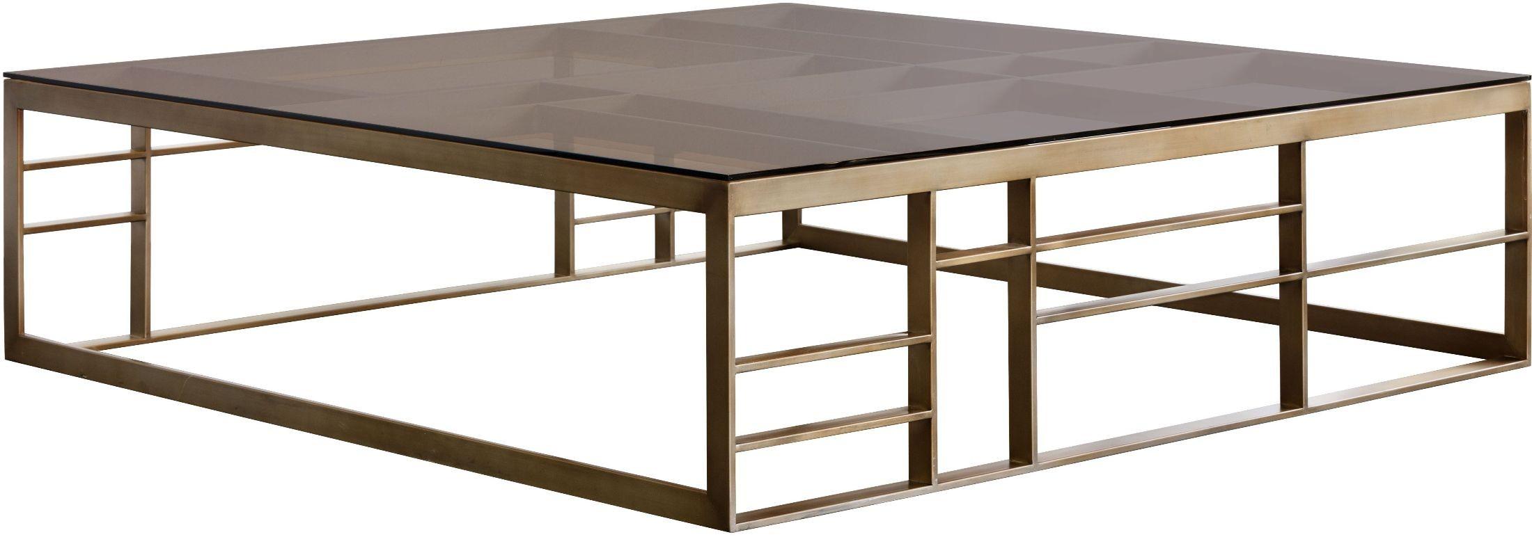 Joanna Brown Glass Square Coffee Table 102073 Sunpan Modern Home