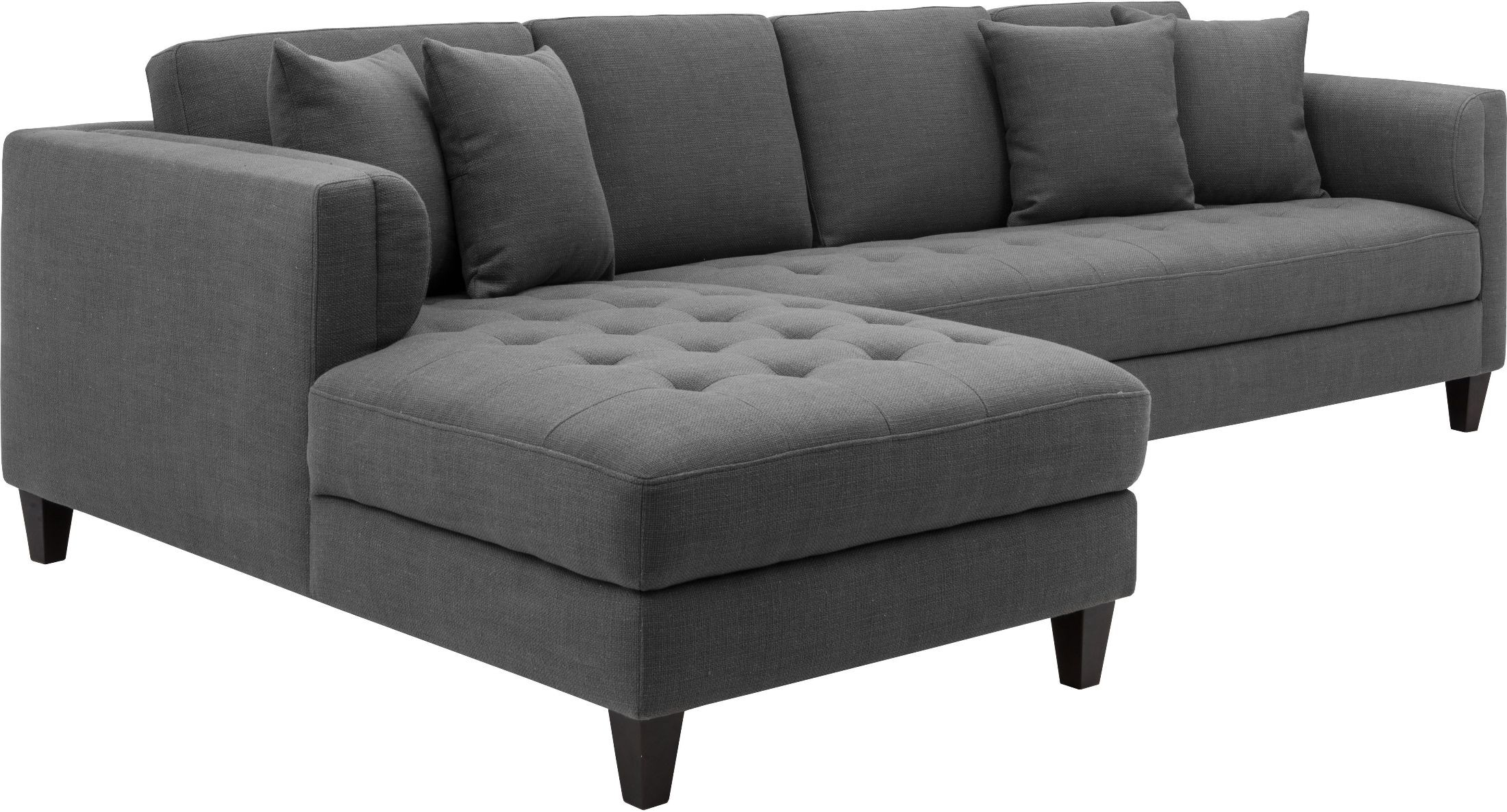 Arthur Grey Tweed Upholstered Laf Sofa Chaise From Sunpan
