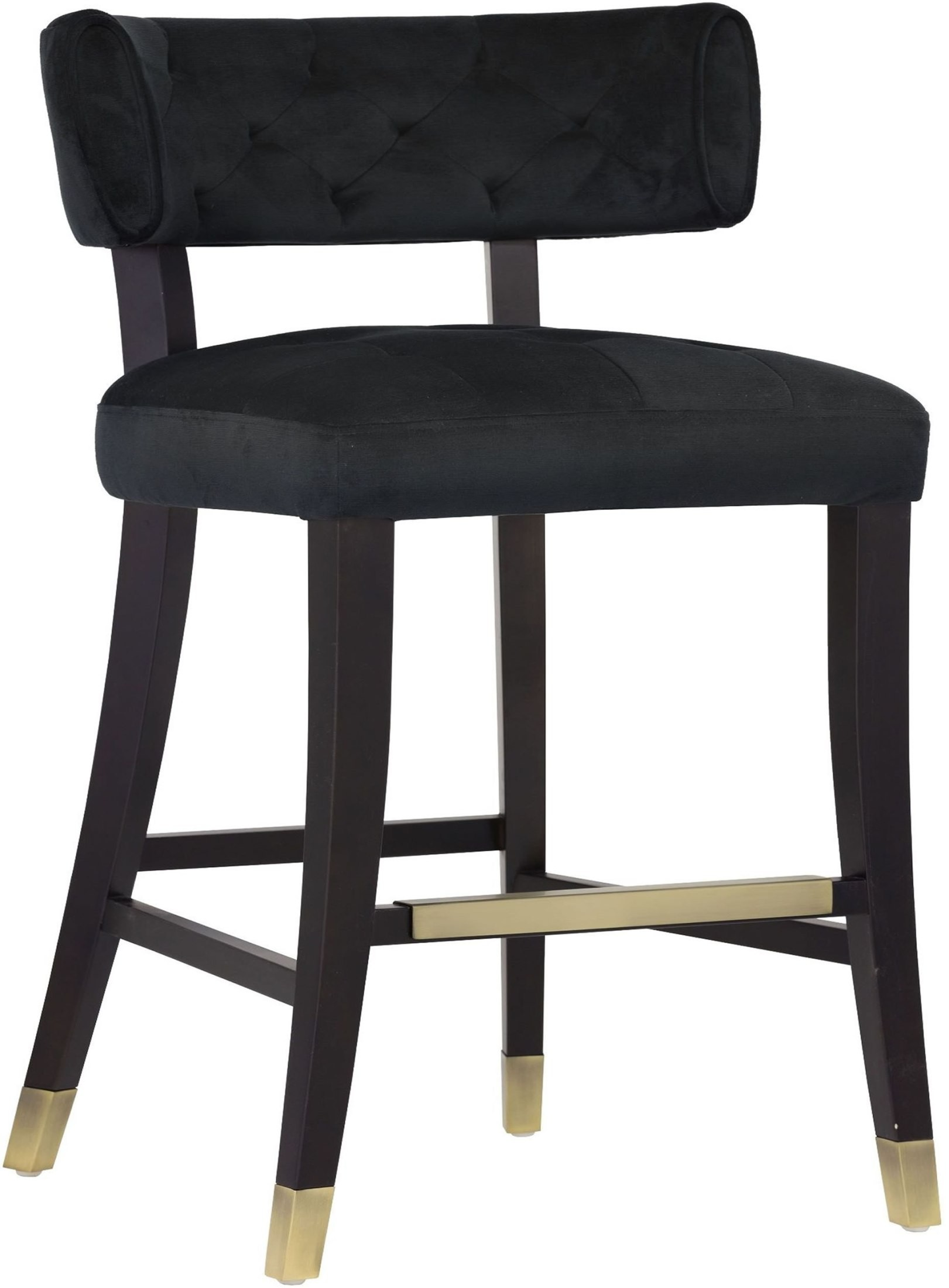 Tatum Piccolo Black Upholstered Counter Stool From Sunpan