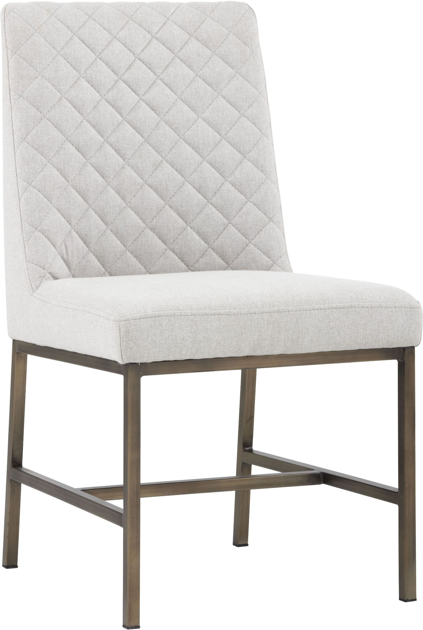 5west Leighland Light Grey Fabric Dining Chair Set Of 2