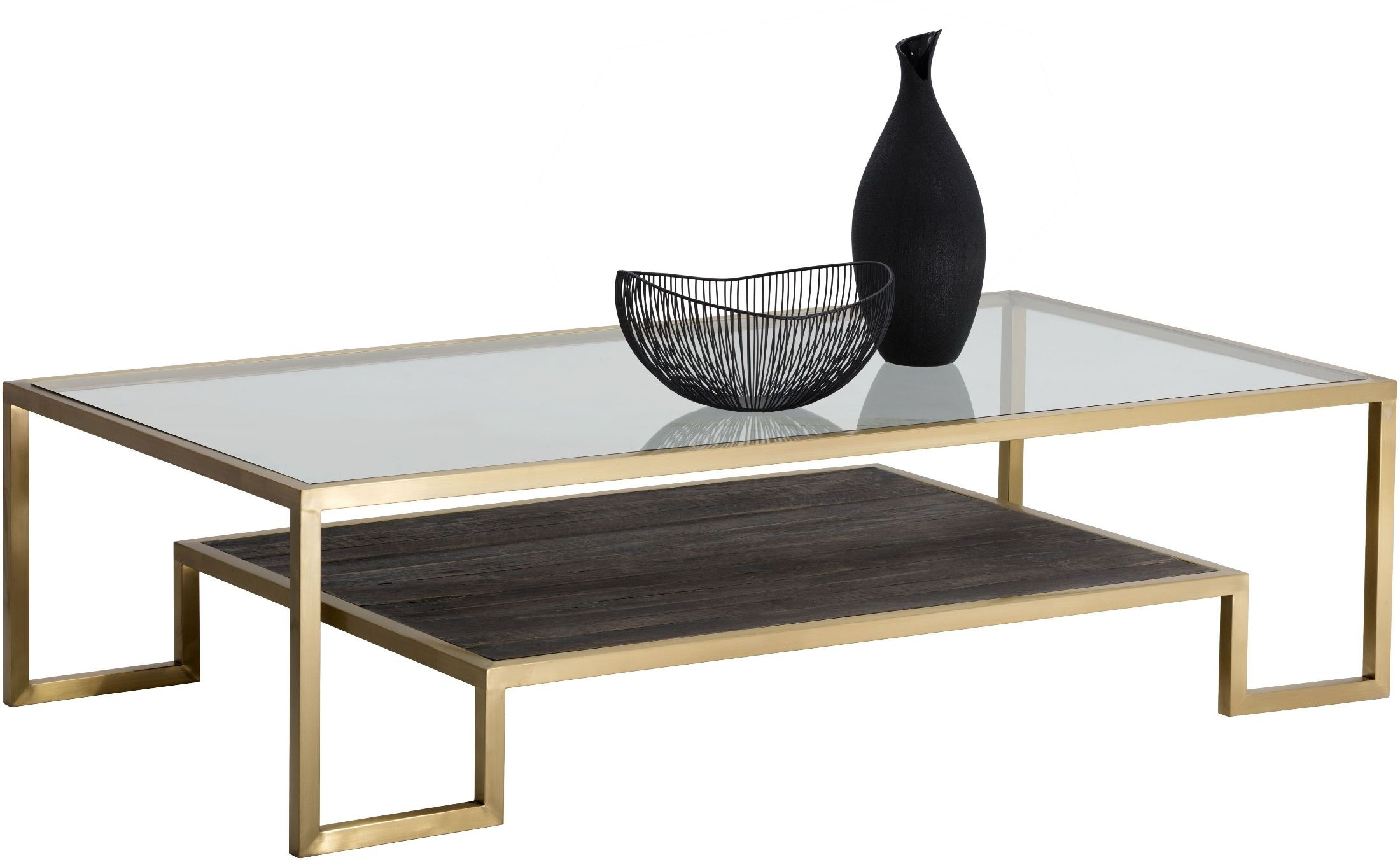 Carver matte gold coffee table from sunpan coleman furniture carver matte gold coffee table sunpan modern home 2468717 geotapseo Gallery