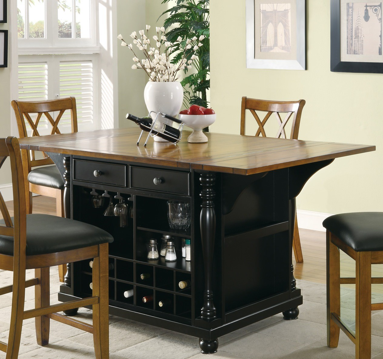 Kitchen Island Furniture: 102270 Black Kitchen Island From Coaster (102270