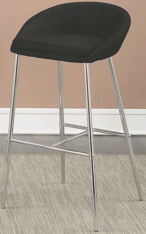 102526 Rec Room Black Upholstered Bar Stool Set of 2 from Coaster ...