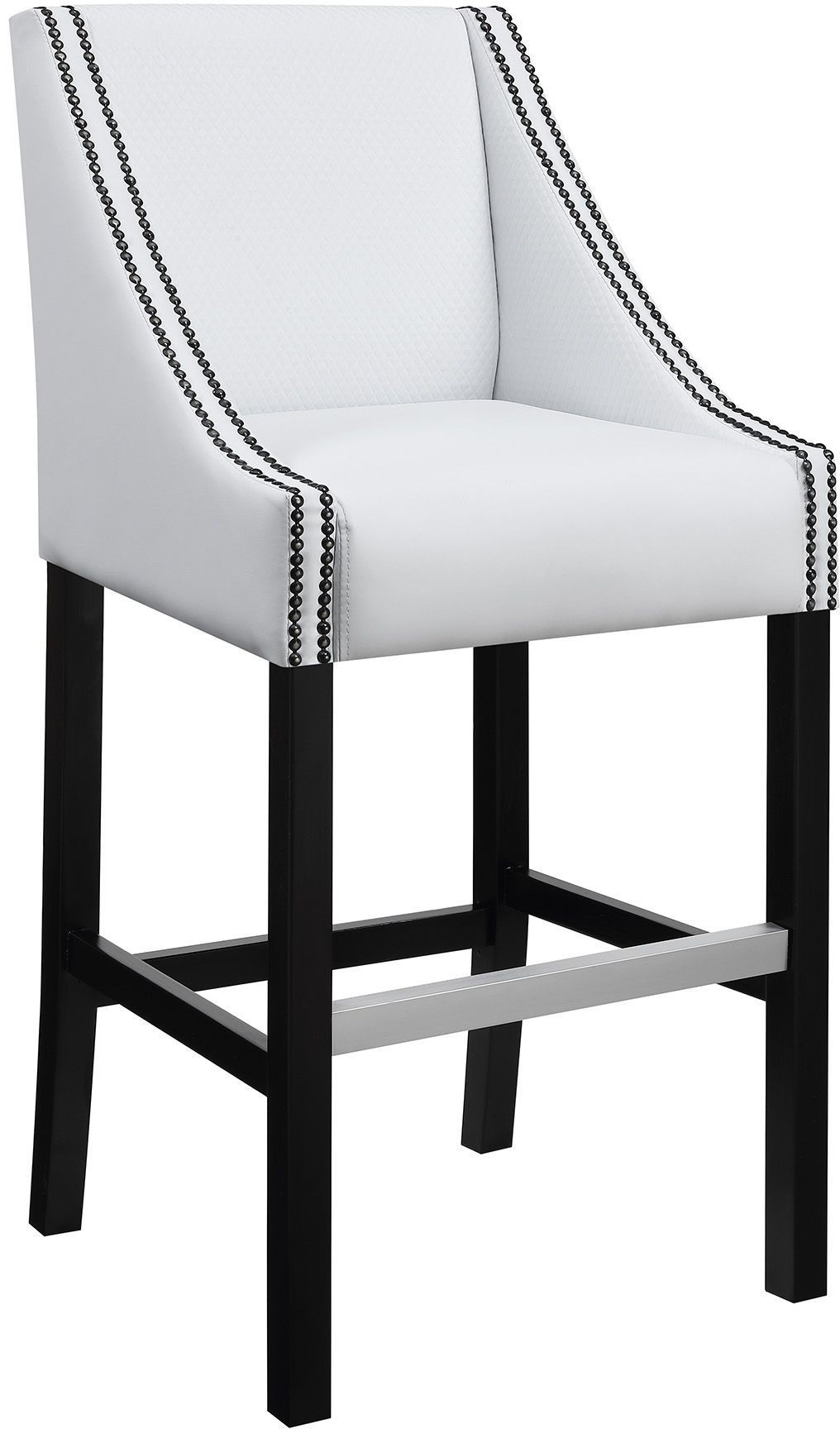 White And Chrome Bar Stool Set Of 2 From Coaster Coleman