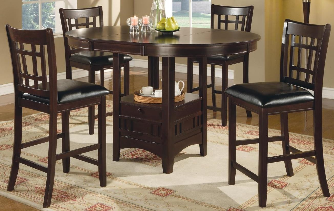 Lavon cappuccino counter height dining room set from for Counter height dining room sets