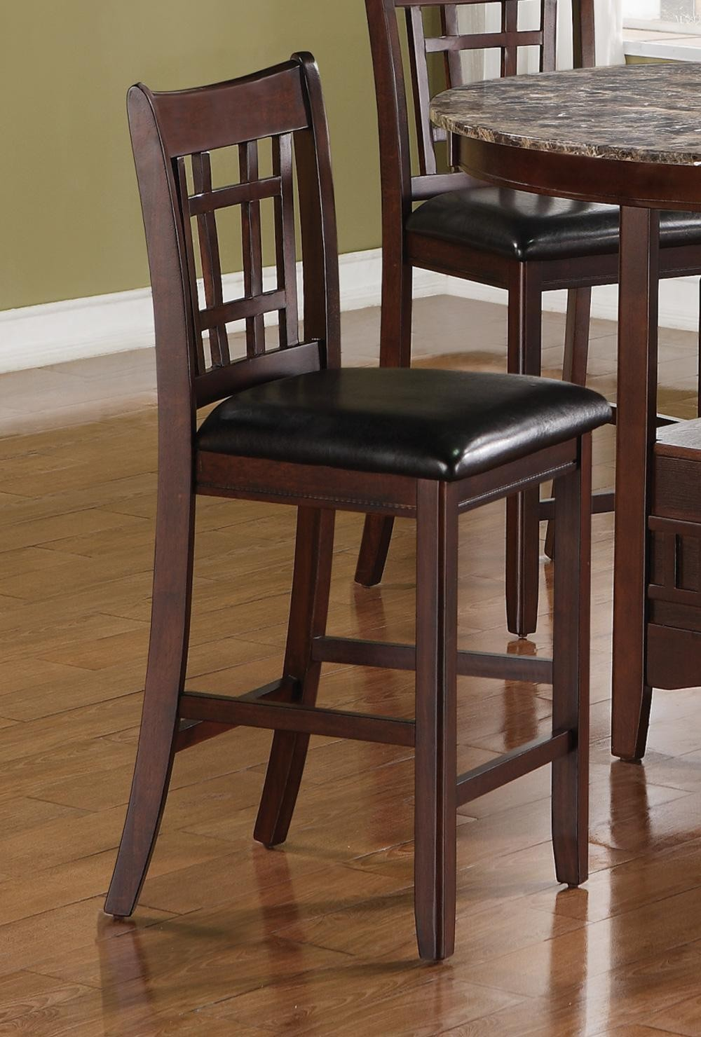 Lavon Dark Brown 24 Quot Bar Stool Set Of 2 From Coaster