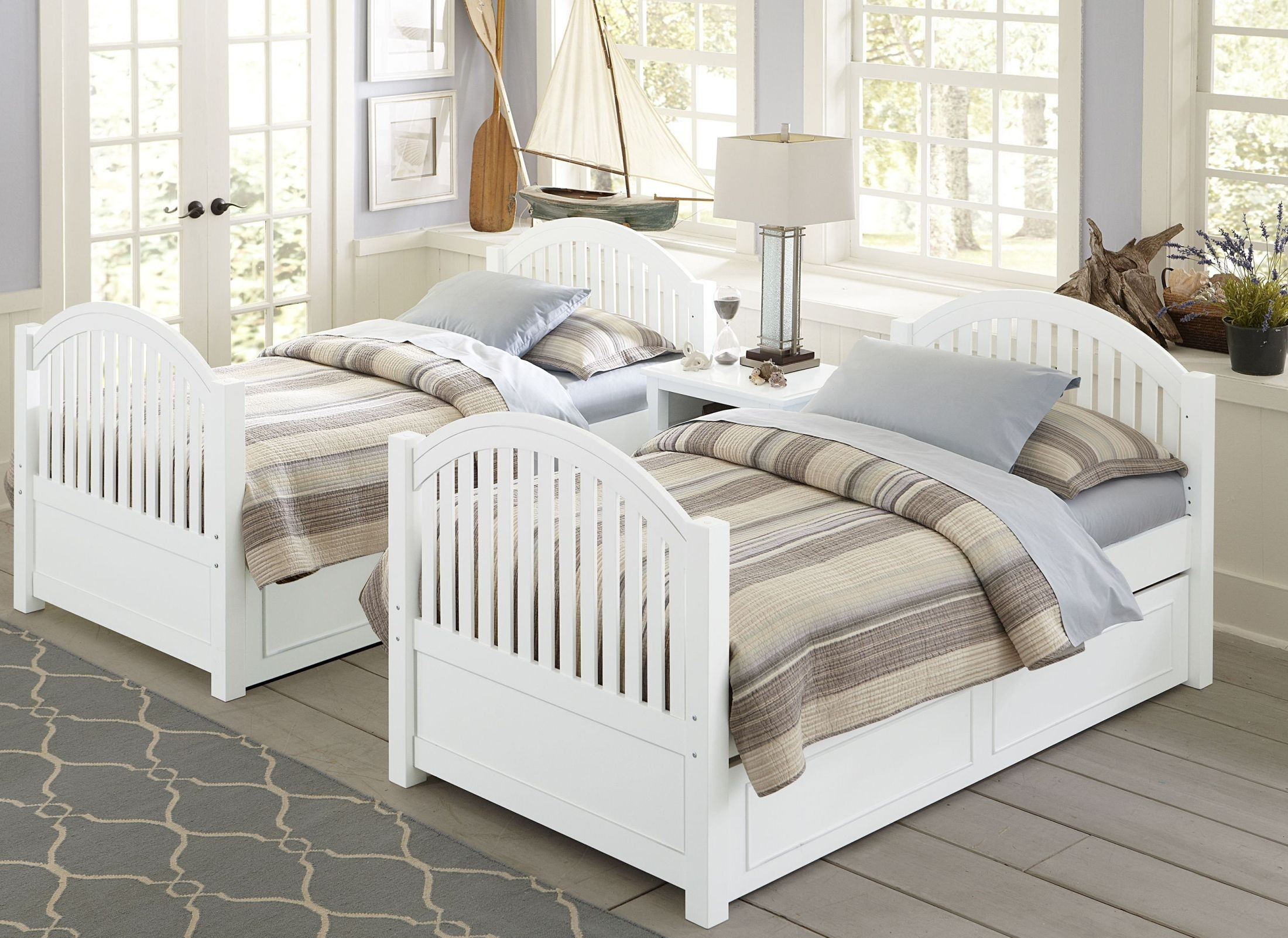 white bed with trundle lake house white adrian youth panel bedroom set with 17811