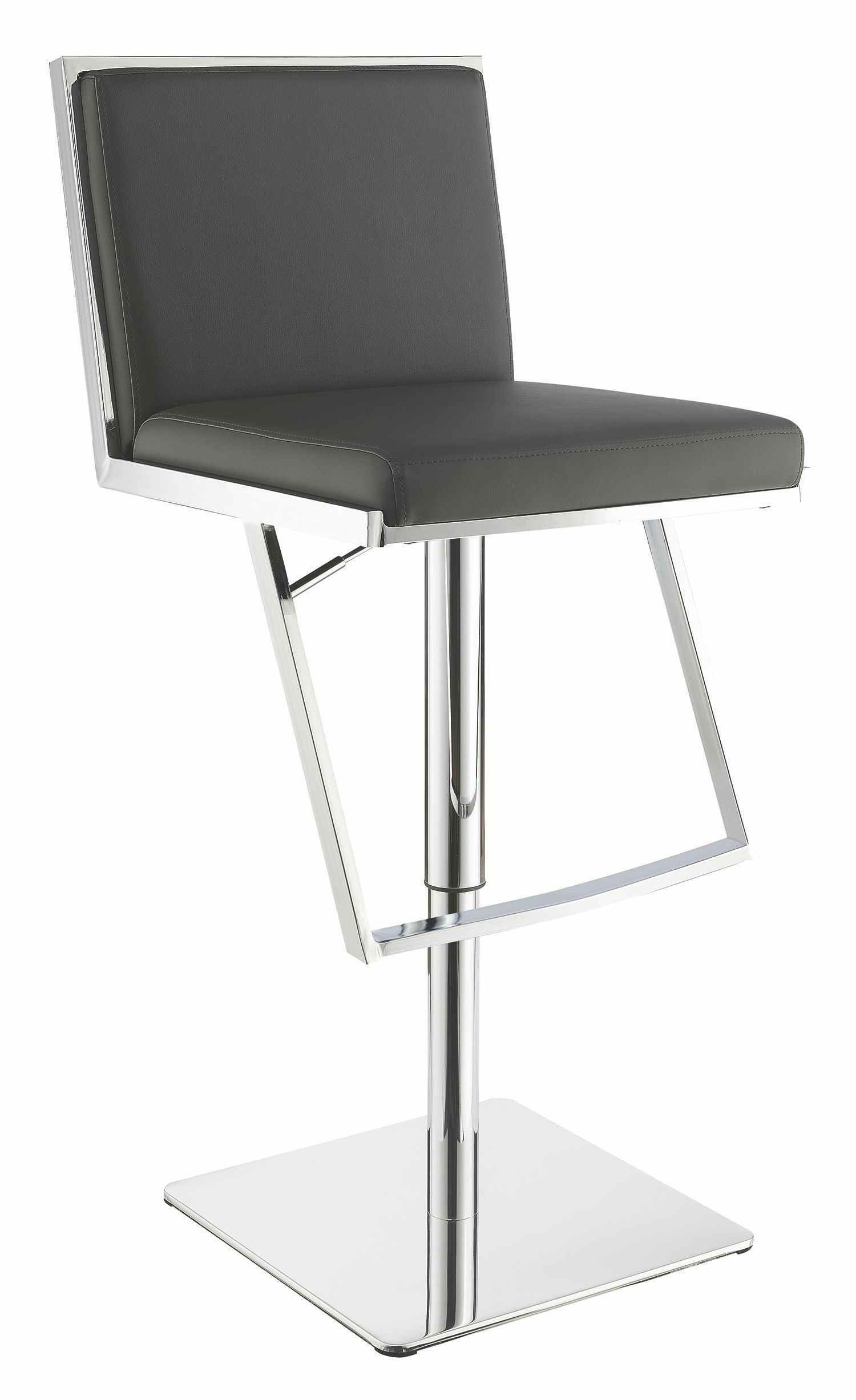 Grey Adjustable Bar Stool By Scott Living From Coaster