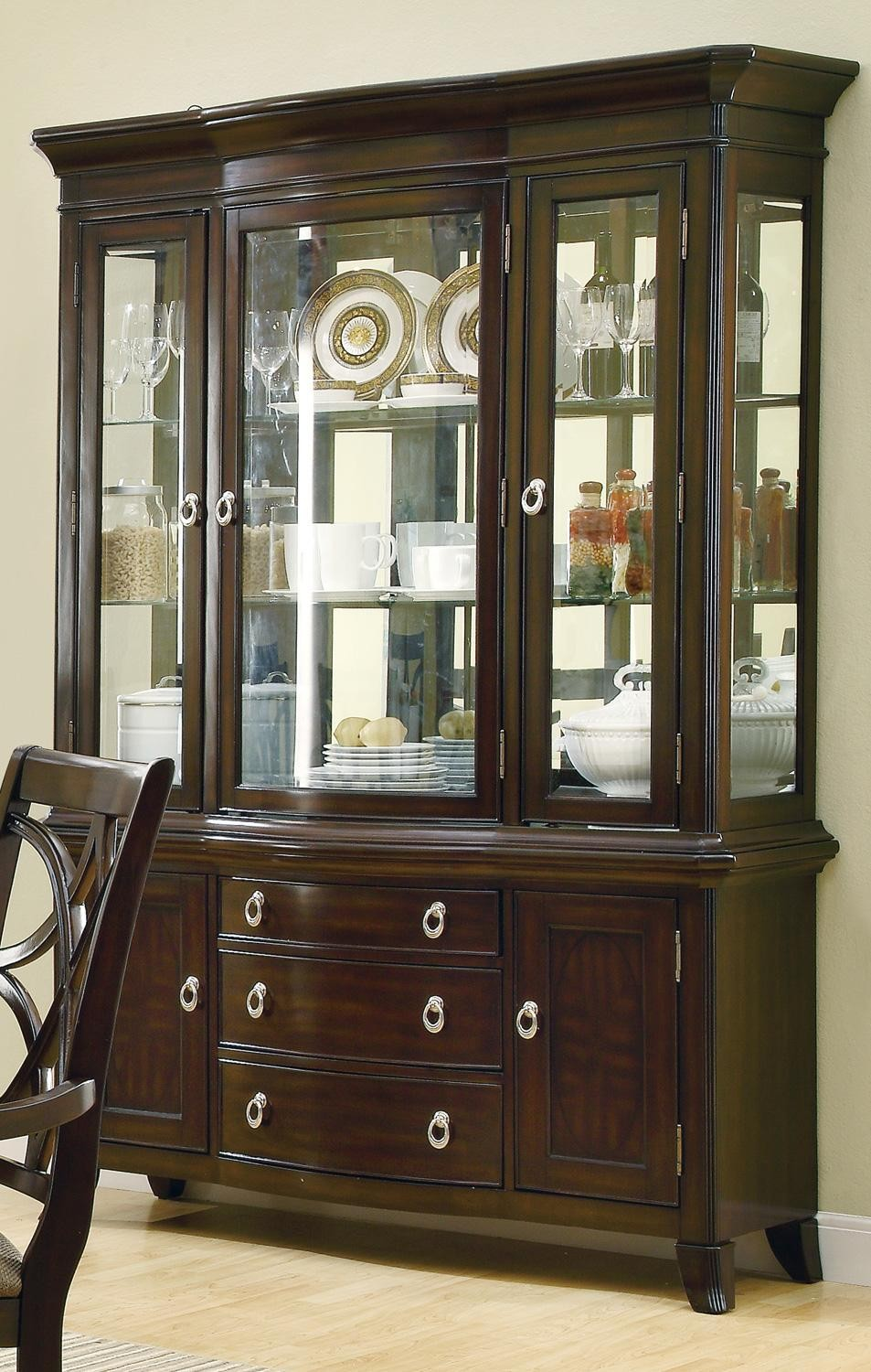 Dining Room Hutches Small Hutch Furniture Room Furniture: Meredith Espresso Buffet/Hutch From Coaster (103534