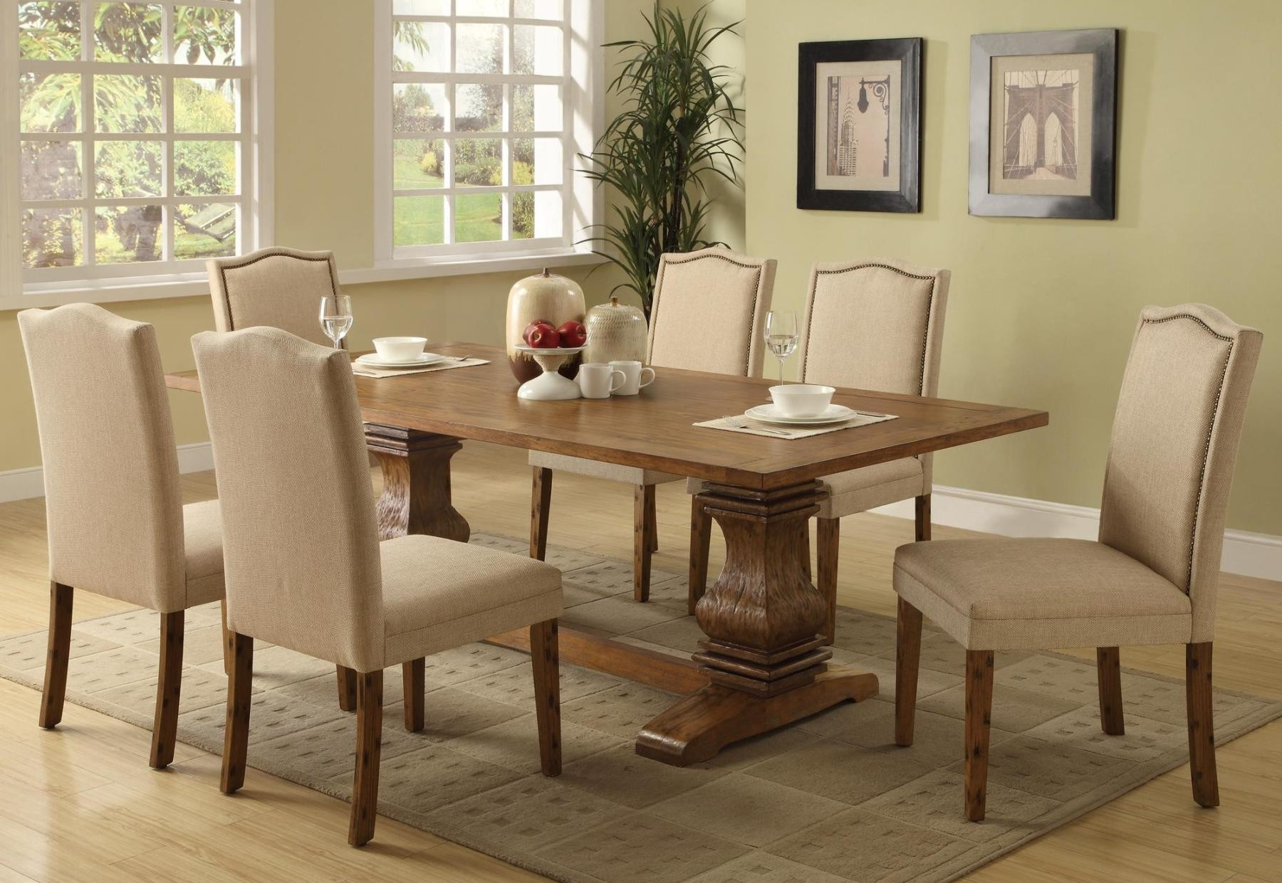 parkins cappuccino rectangular dining room set from coaster coleman furniture. Black Bedroom Furniture Sets. Home Design Ideas