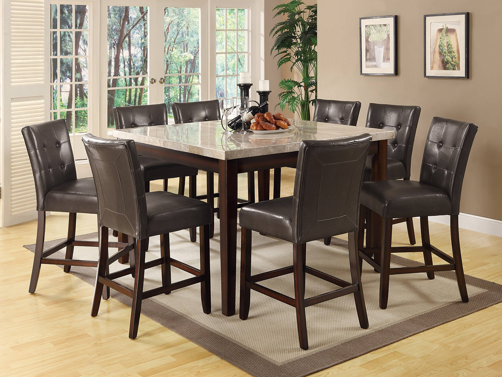 counter height dining room sets milton cappuccino counter height dining room set from coaster 103778 coleman furniture 5151