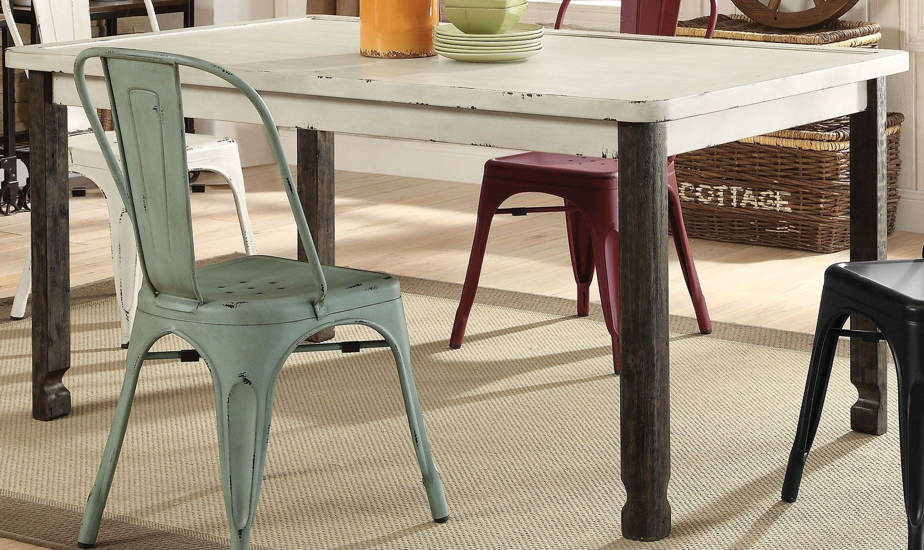 Keller Antique White Dining Table from Coaster
