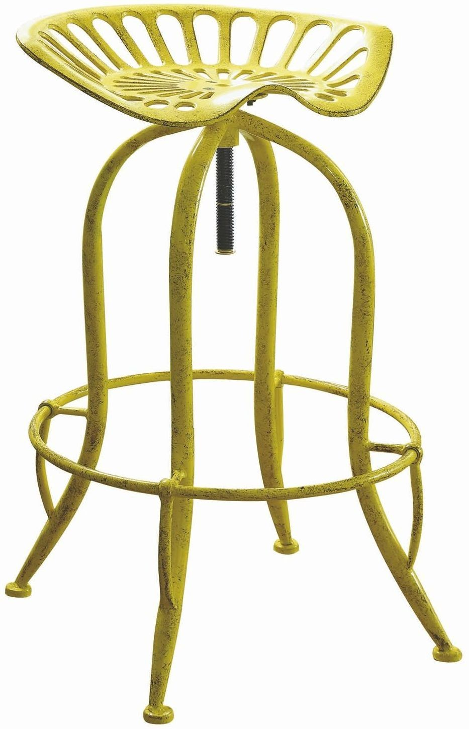 Rec Room Antique Yellow Bar Stool From Coaster Coleman