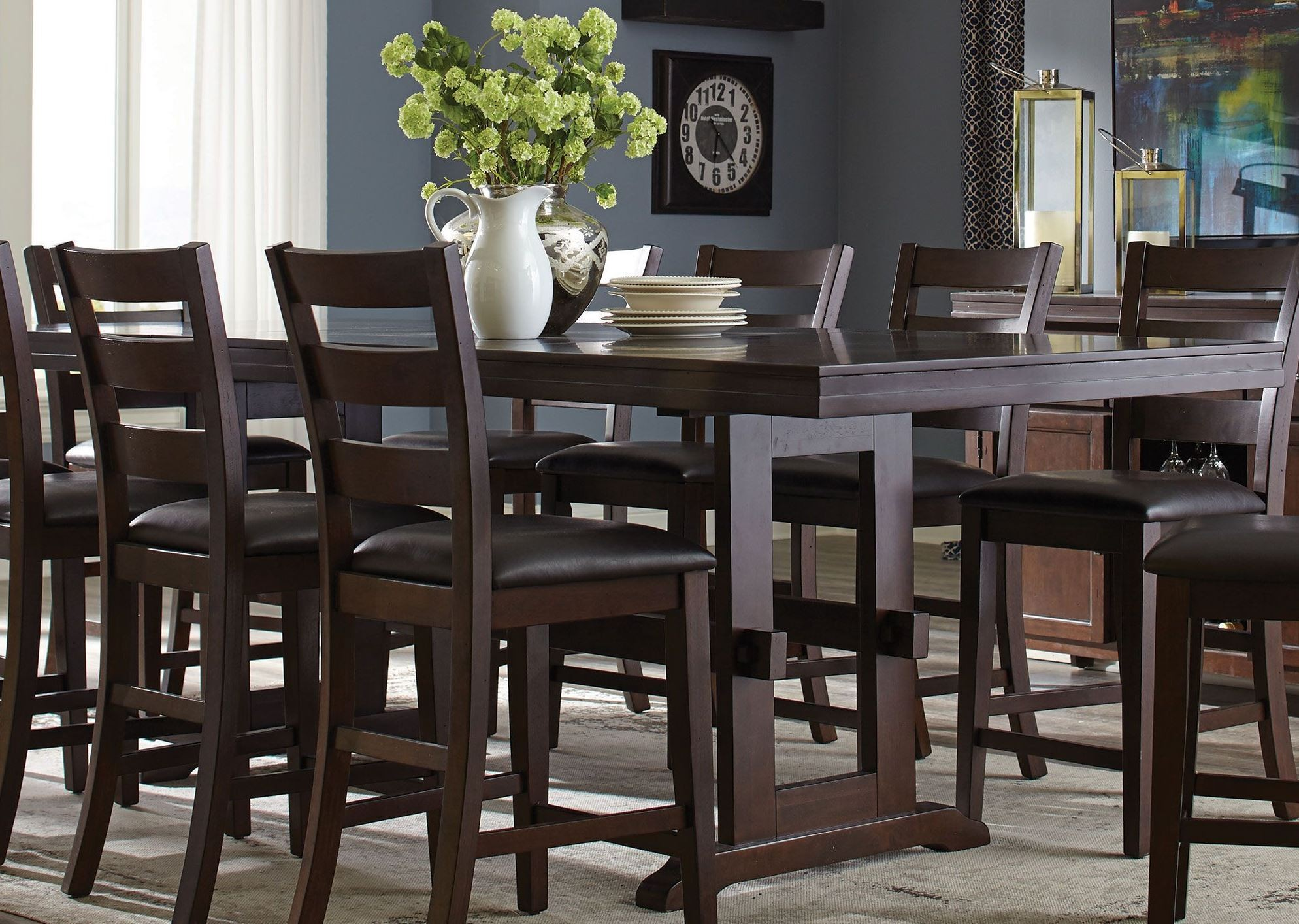 Counter Height Dining Tables: Holbrook Antique Tobacco Extendable Counter Height Dining