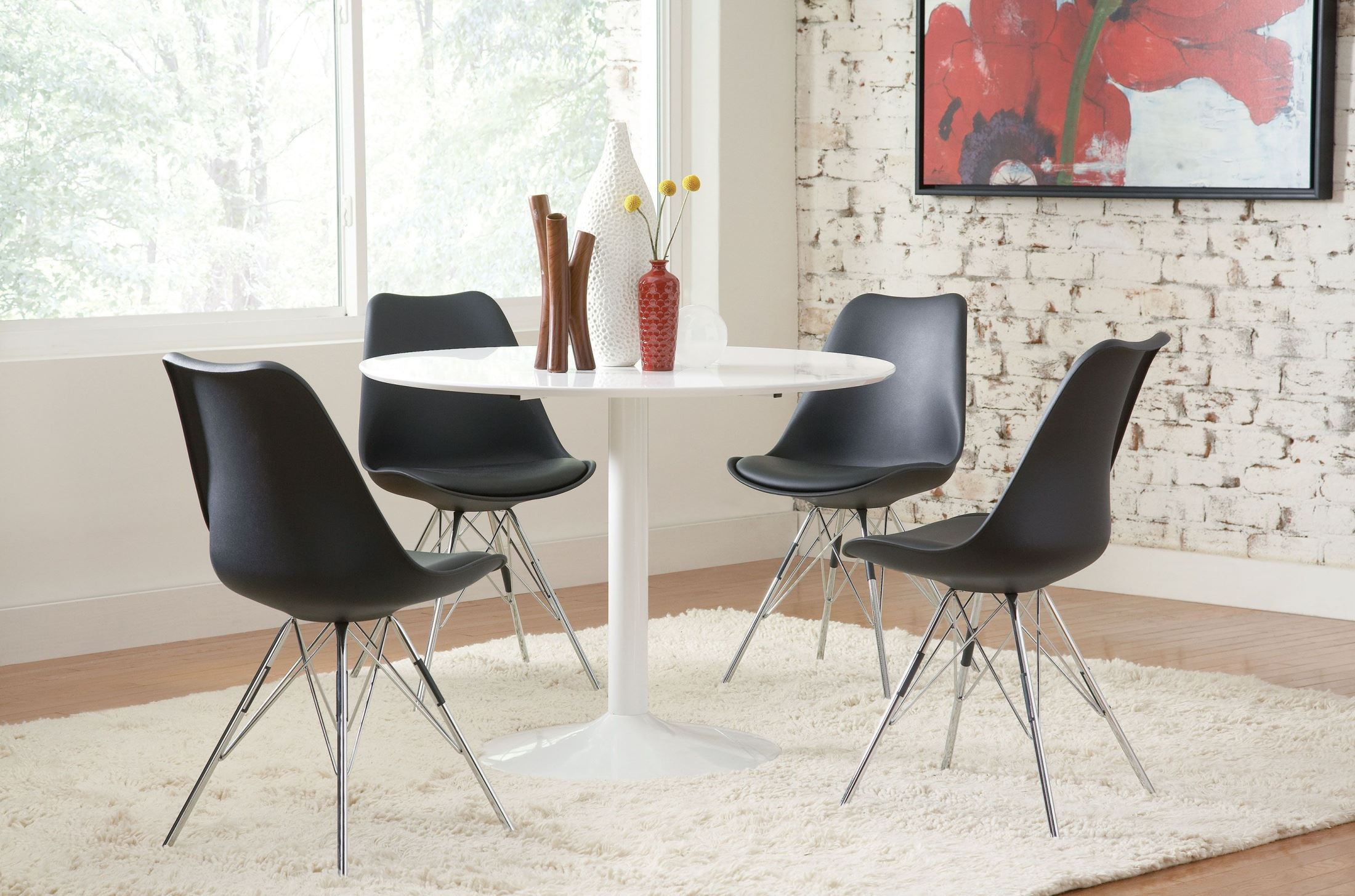 Lowry White Dining Table from Coaster