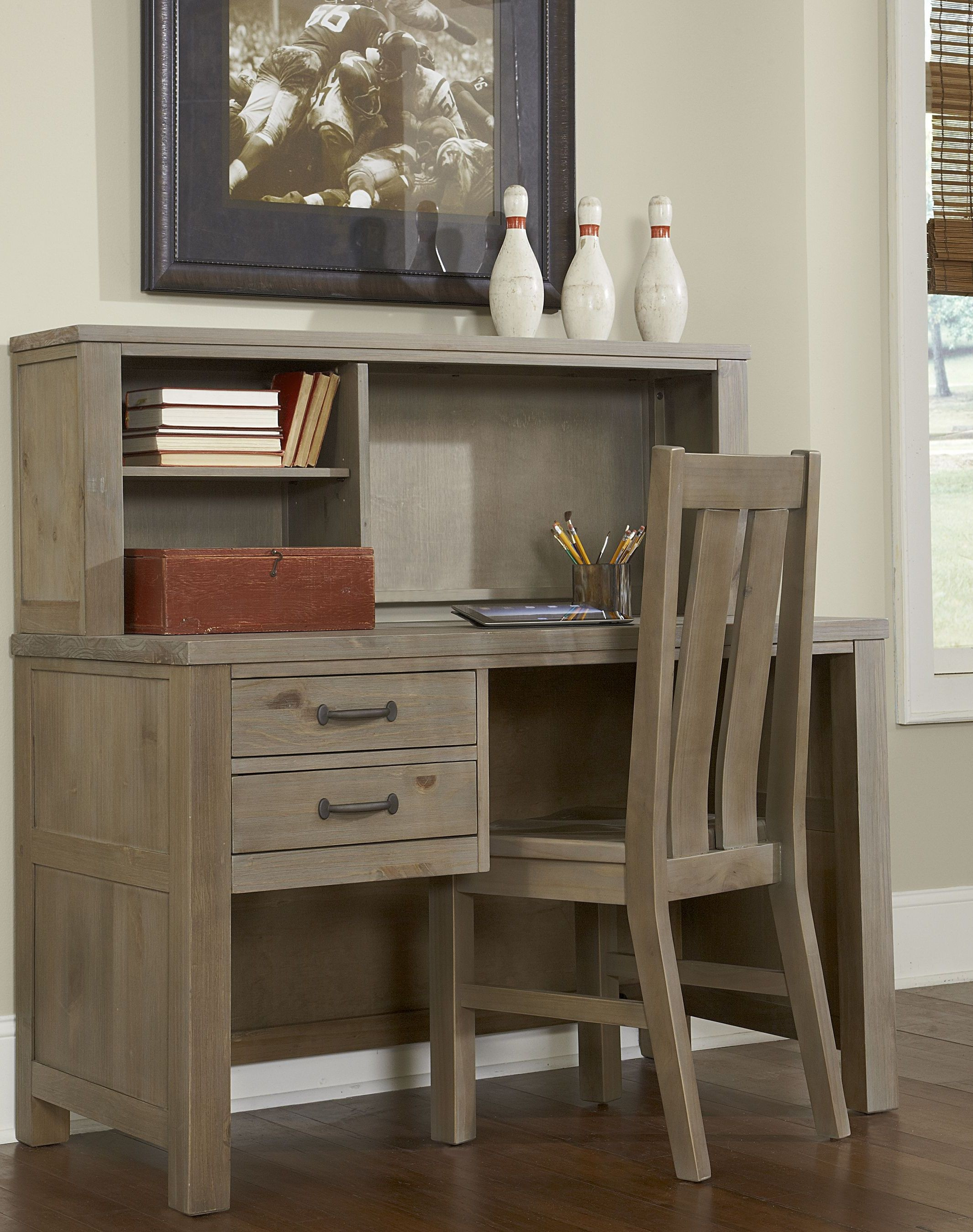 highlands driftwood desk with hutch and chair from ne kids coleman furniture. Black Bedroom Furniture Sets. Home Design Ideas