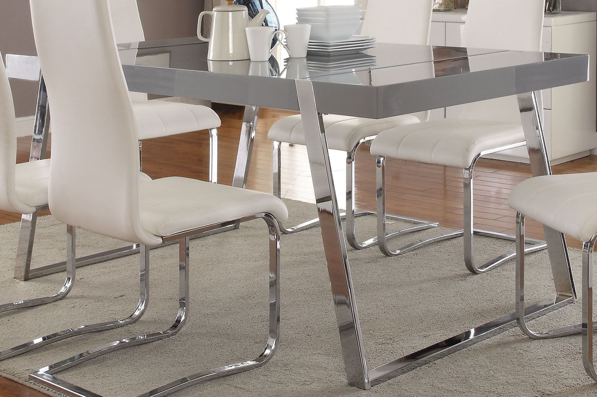 Giovanni High Gloss Grey Dining Table from Coaster  : 106011 from colemanfurniture.com size 1915 x 1273 jpeg 581kB