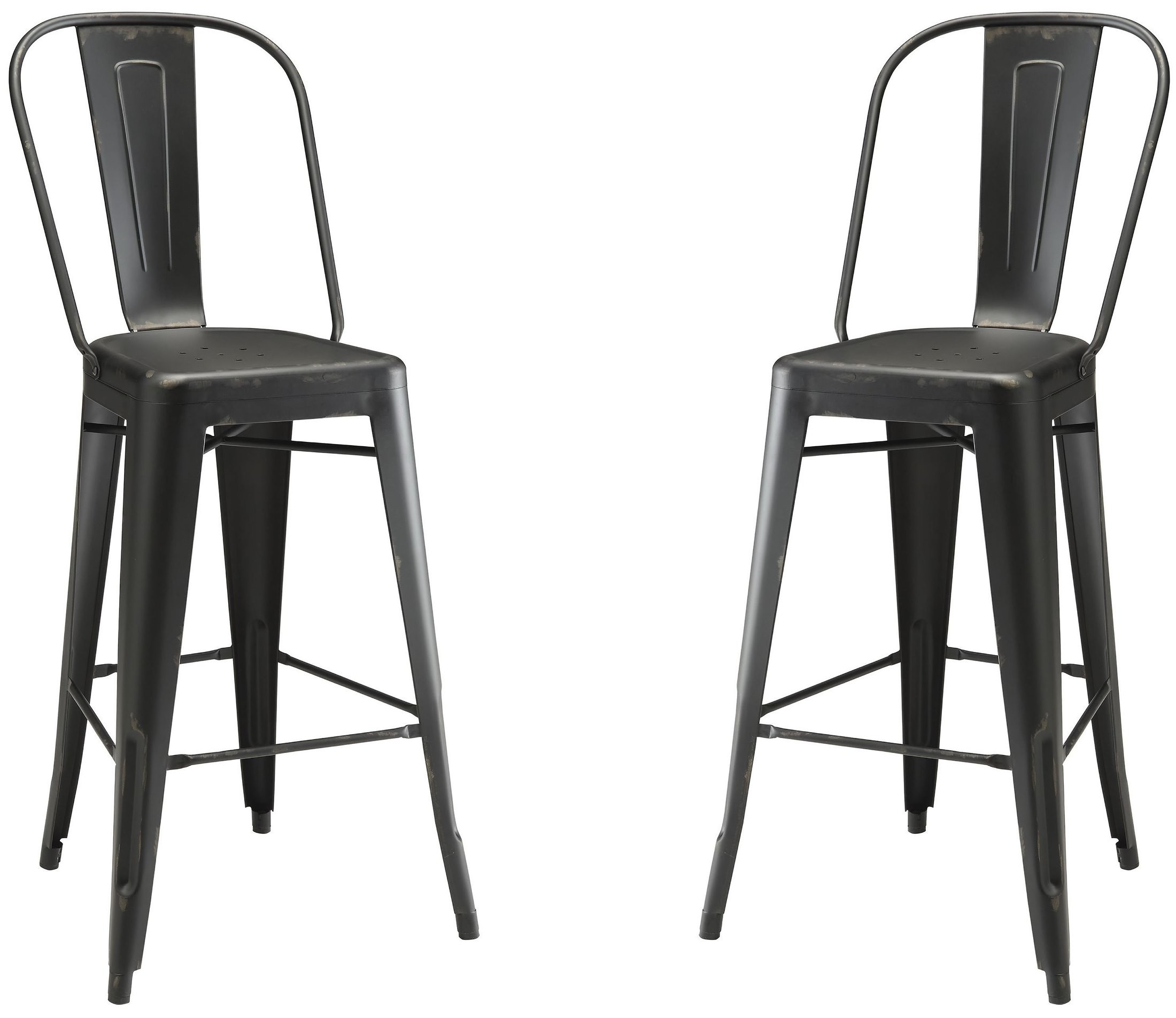 Black Metal Bar Stool Set Of 2 From Coaster Coleman