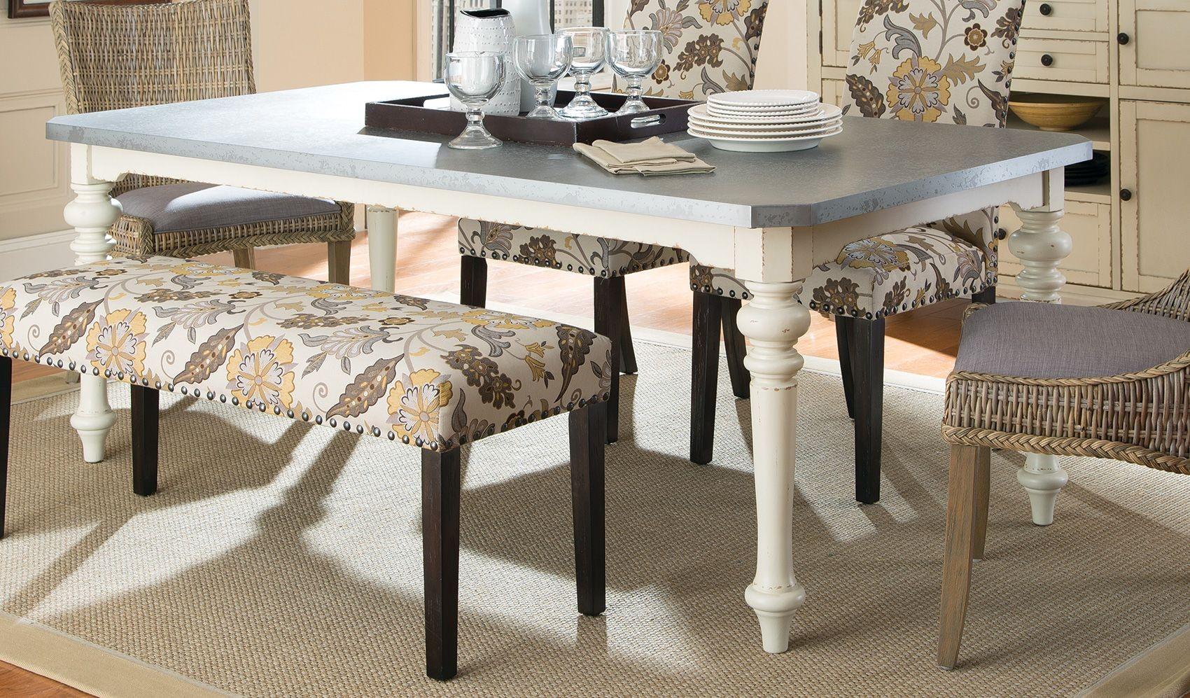 matisse antique white rectangular dining table from coaster 106111 coleman furniture. Black Bedroom Furniture Sets. Home Design Ideas