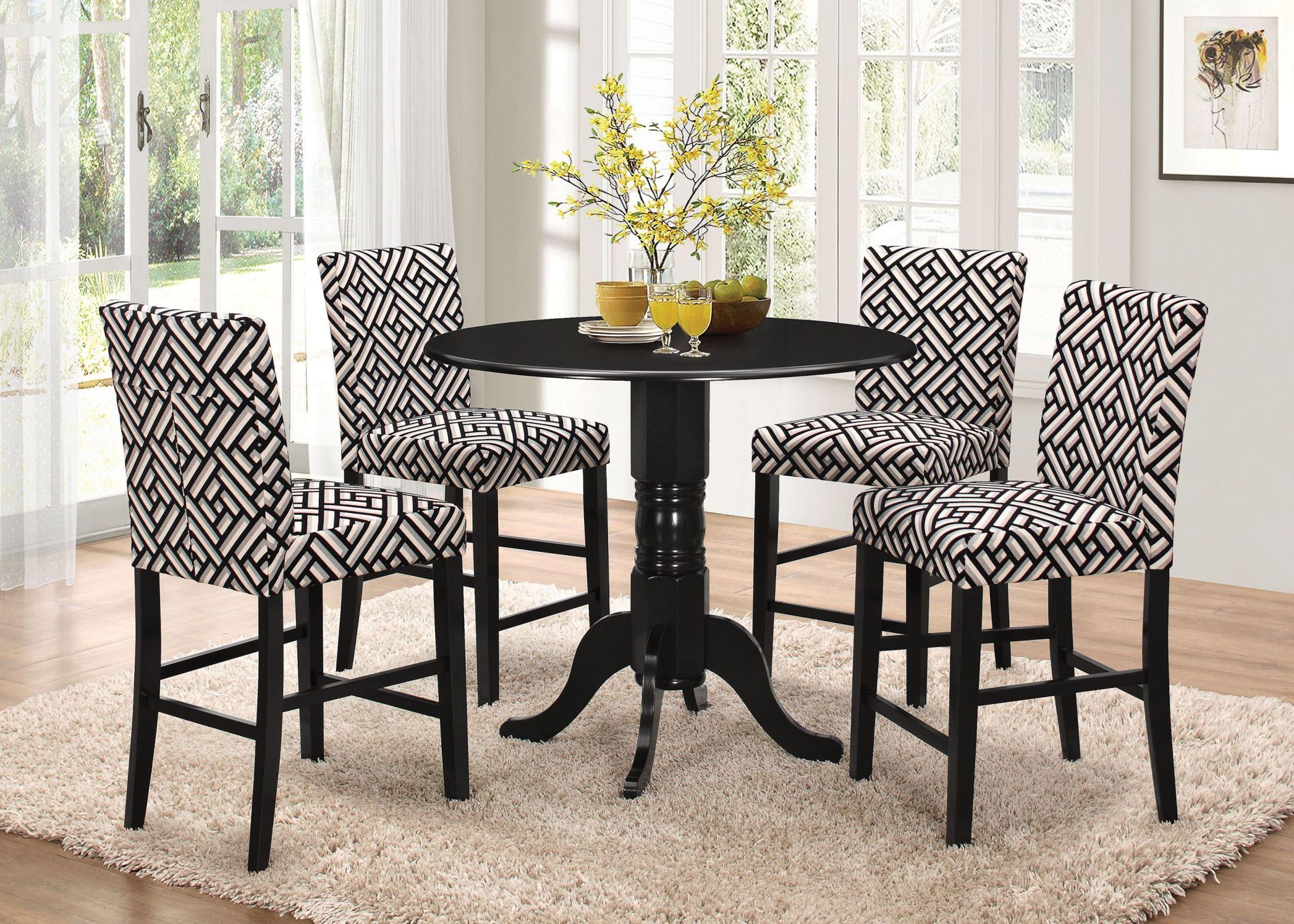 dorsett black counter height dining room set from coaster coleman furniture. Black Bedroom Furniture Sets. Home Design Ideas