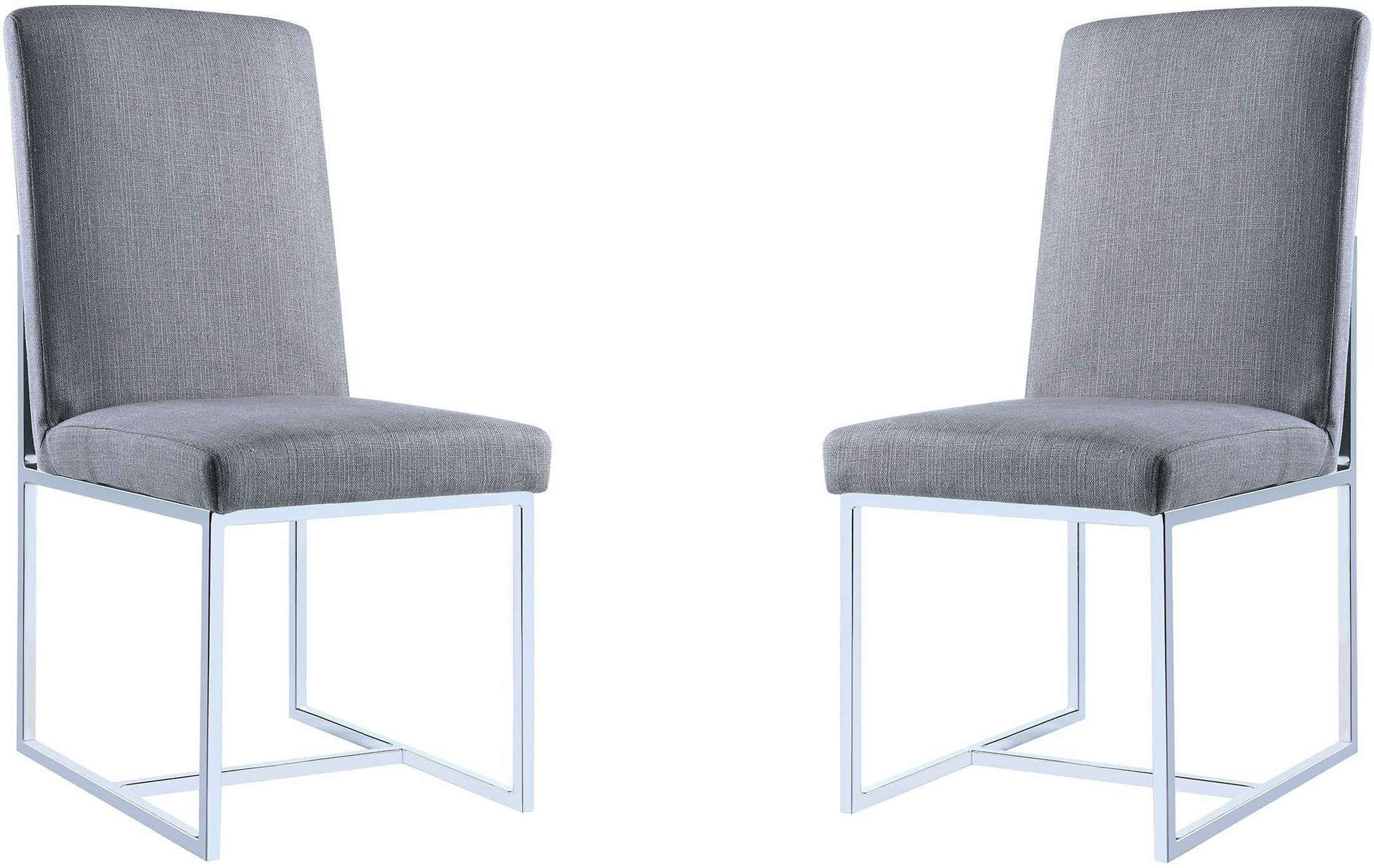 City Chic Grey Dining Chair By Donny Osmond Set Of 2 From Coaster Coleman Furniture