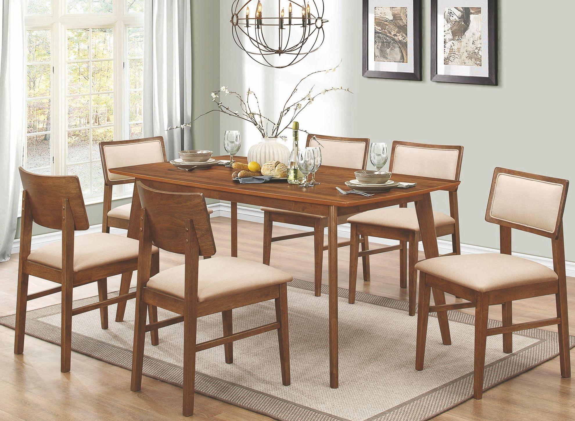 Sasha Walnut Rectangular Dining Room Set