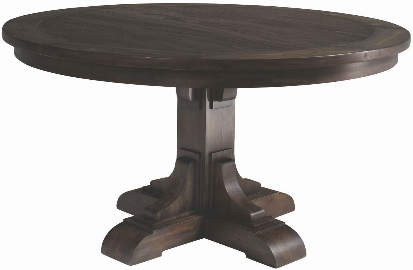 Weber Smokey Black Round Dining Table From Coaster Coleman Furniture