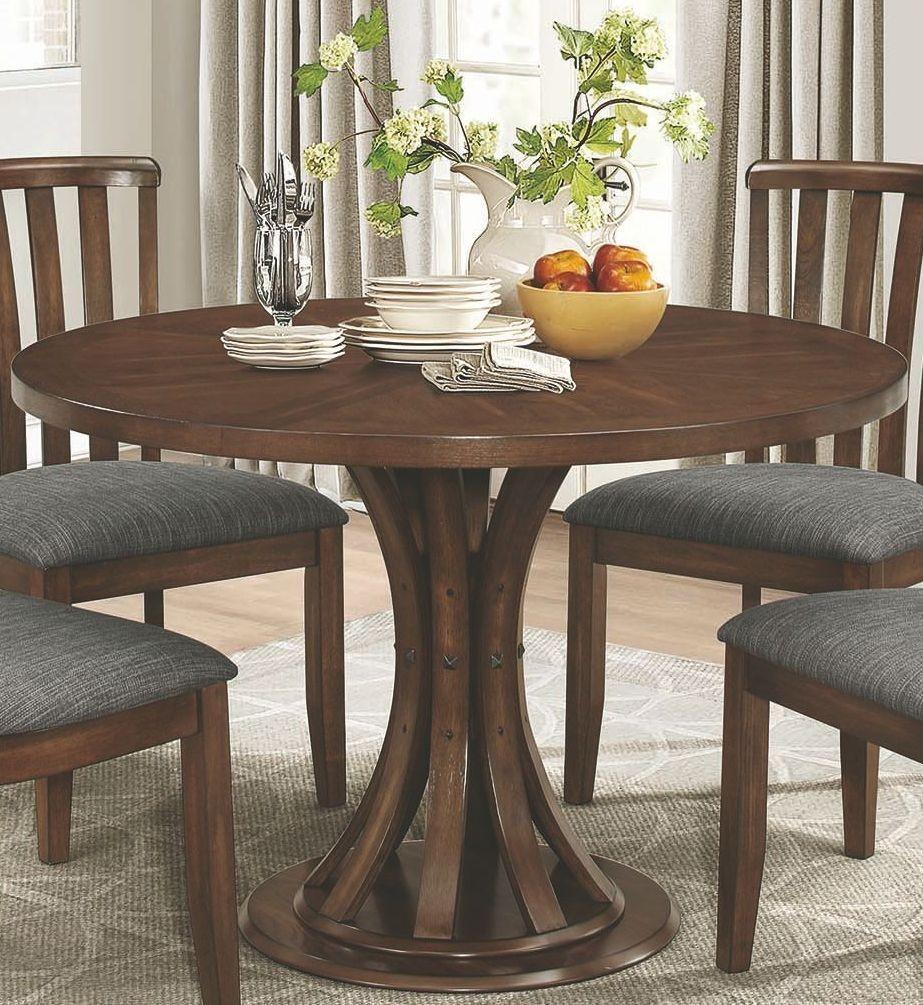 Coaster Furniture 2009771 Prescott Vintage Cinnamon Round